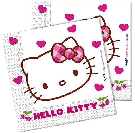 servilletas de cumpleaños de hello kitty