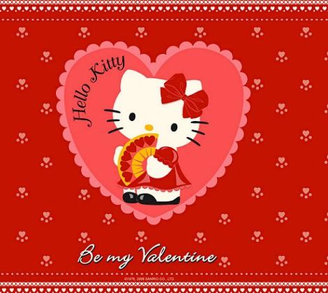 Fondos de pantalla de Hello Kitty para San Valentín
