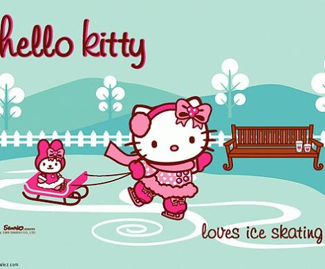 fondos de pantalla de navidad de Hello Kitty