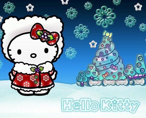 imagenes de navidad de Hello Kitty