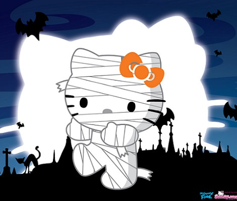 fotos de hello kitty de halloween momia
