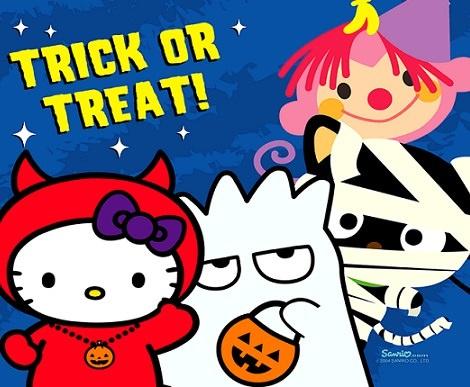 fotos de hello kitty de halloween truco o trato