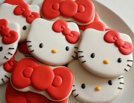 como hacer galletas de hello kitty