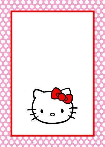 invitaciones de cumpleanos de hello kitty para imprimir gratis