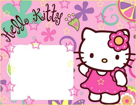 invitaciones de cumpleaños personalizadas de Hello Kitty