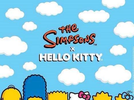 los simpson y hello kitty juntos