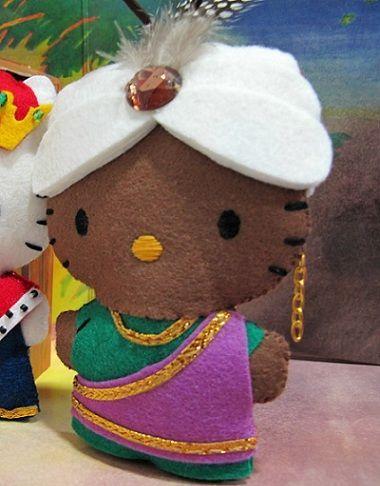 Hello Kitty munecos de fieltro navidad