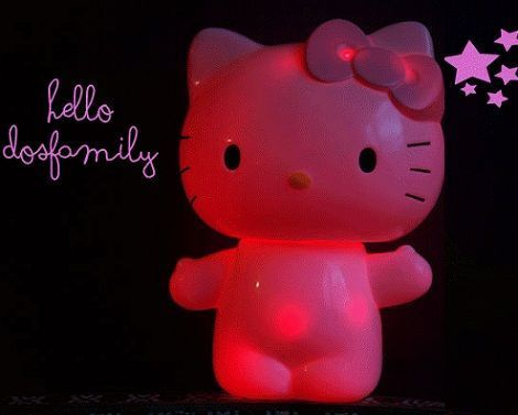 lampara de hello kitty casera