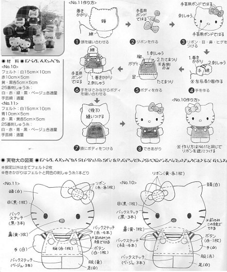 Cómo hacer tus llaveros de fieltro de Hello Kitty