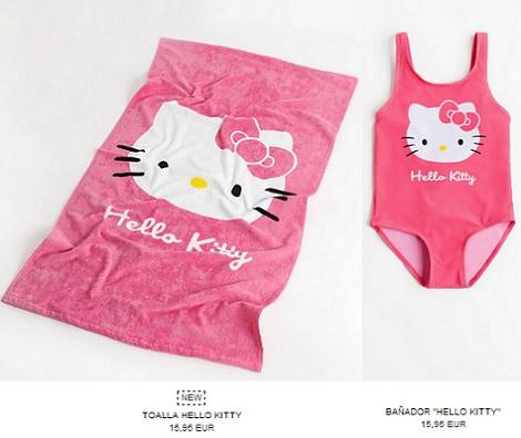 ropa de baño de hello kitty de Zara