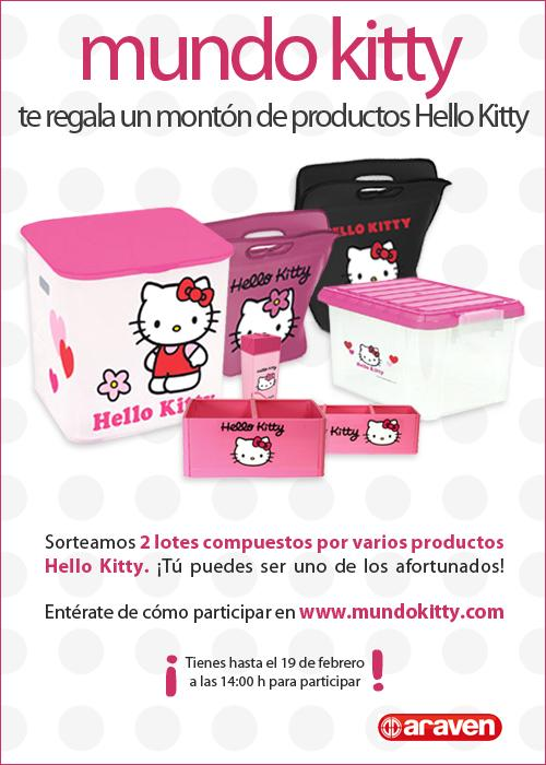 Sorteo de productos Hello Kitty de Araven