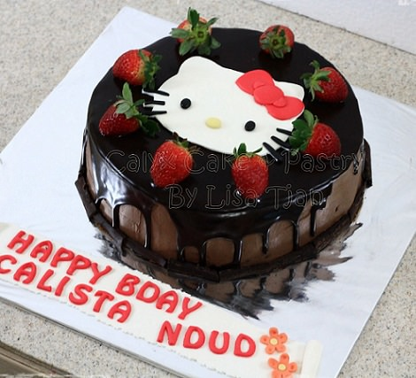 pastel de hello kitty chocolate