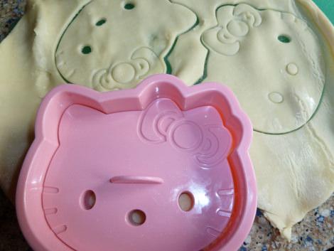 tarta de manzana de Hello Kitty molde