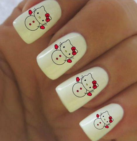 pegatinas de hello kitty para las uñas